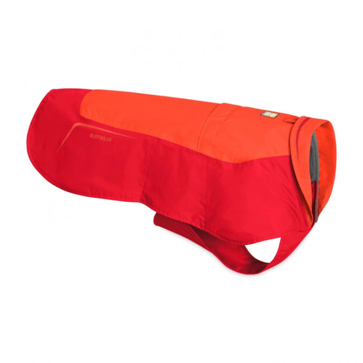 zimná bunda pre psa, bunda pre psa ruffwear, športová bunda pre psa, modrá bunda pre psa, červená bunda pre psa