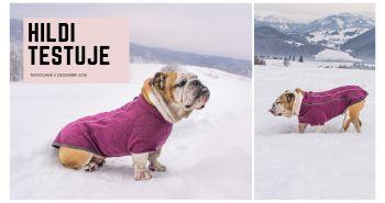 Sveter pre psov Ruffwear Fernie Jacket™ ideálny pre starších psíkov otestovala naša Hildi