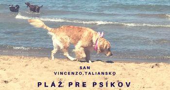 Pláž pre psov v San Vincenzo, Taliansko