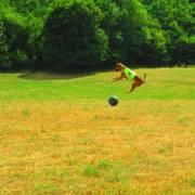 Chlpáč športuje