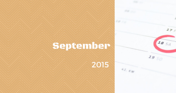 Uzávierka prihlášok v mesiaci SEPTEMBER 2015
