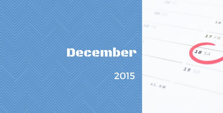 Uzávierka prihlášok v mesiaci DECEMBER 2015