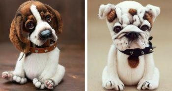 Umelkyňa Yanina Link vyrába naozaj prekrásne postavičky psíkov. Pozri si jej tvorbu