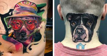 15 psích rodičov, ktorí si nechali vytetovať svojho psa na telo, aby mu tak preukázali lásku