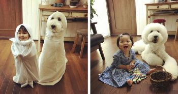 Toto japonské dievčatko a jej psík ti spraví tvoj deň krajším